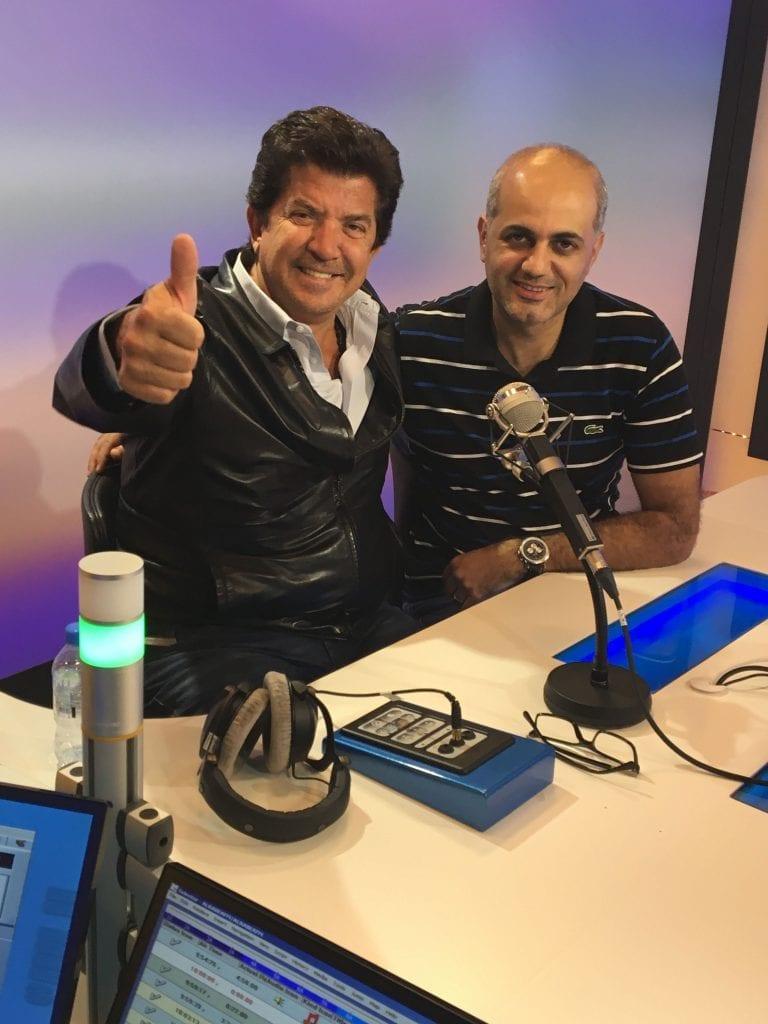 فيليب رياشي مع الفنان العربي وليد توفيق