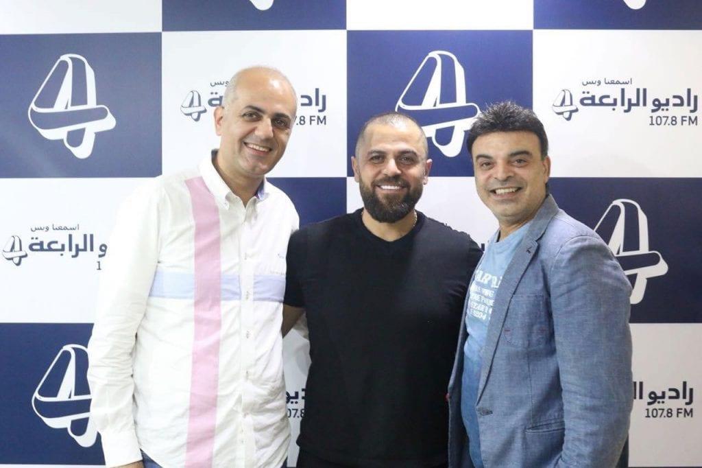 فيليب وعمر مع الفنان وفيق حبيب