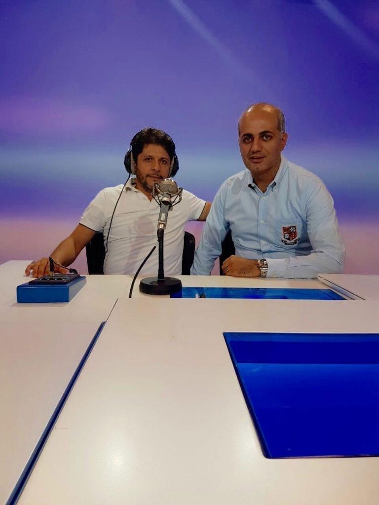 فيليب رياشي مع الفنان معين شريف