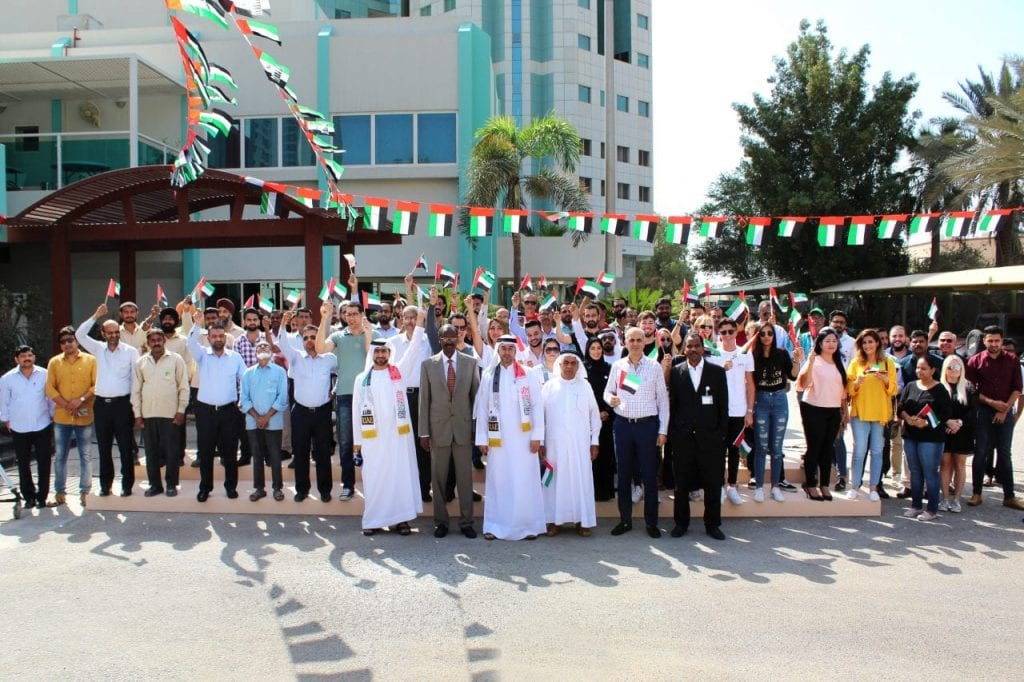شبكة الرابعة الإعلامية وتلفزيون عجمان احتفالاً بيوم العلم
