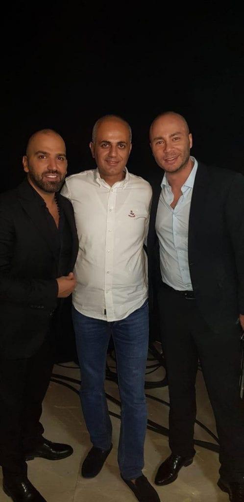 فيليب رياشي مع الفنان ناجي الأسطا