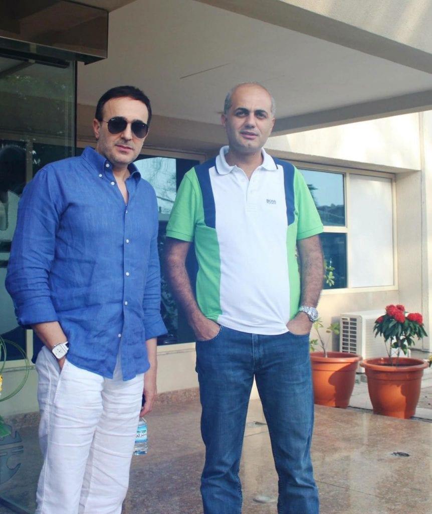 فيليب رياشي مع الفنان صابر الرباعي