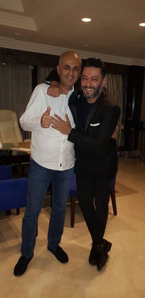 فيليب رياشي مع الفنان زياد برجي