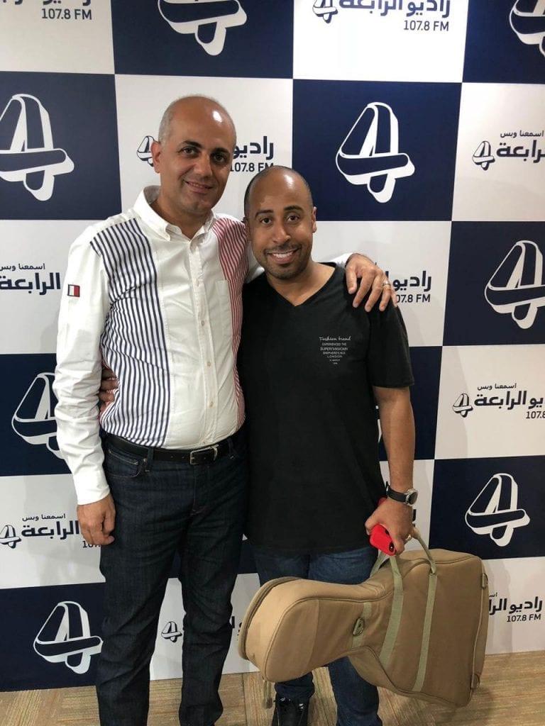 فيليب رياشي مع الفنان يوسف العماني