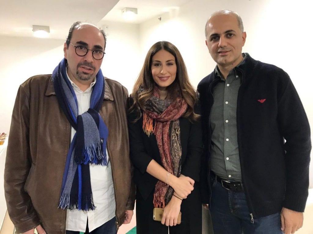فيليب رياشي مع الفنانة هبة طوجي والموسيقار أسامة الرحباني