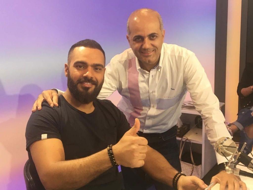 فيليب رياشي مع الفنان جوزيف عطية