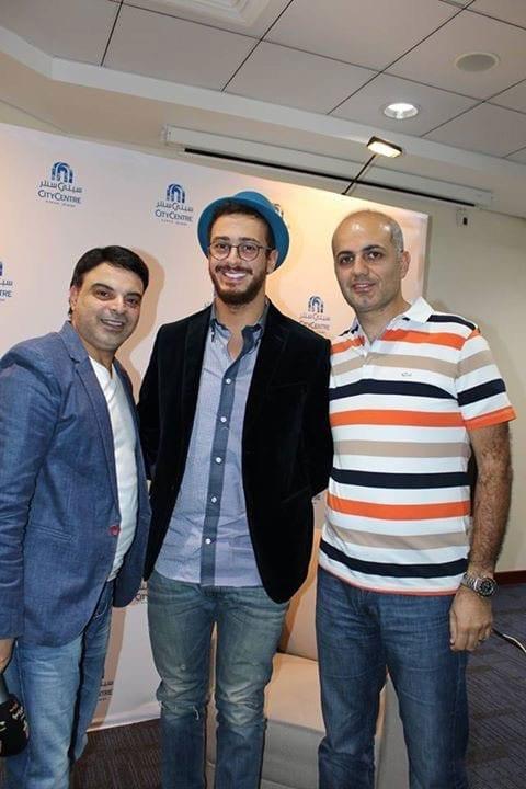 فيليب رياشي وعمر الحلبي مع الفنان سعد لمجرد