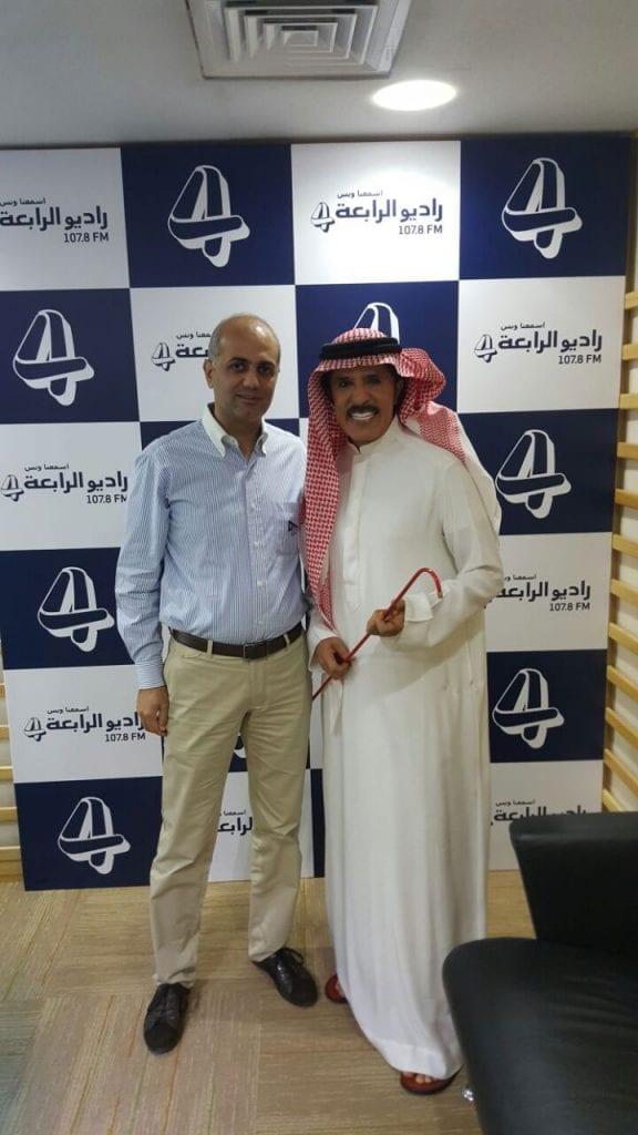 فيليب رياشي مع الفنان عبد الله بالخير