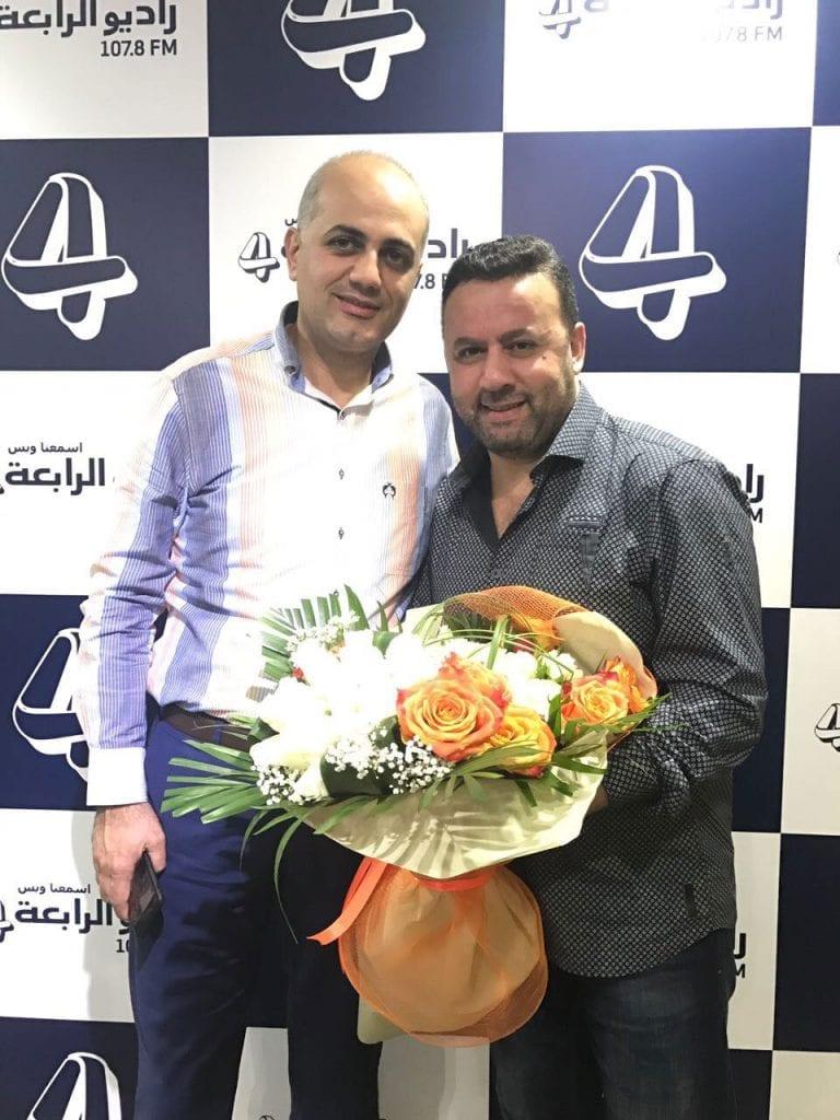 فيليب رياشي مع الفنان صبحي توفيق