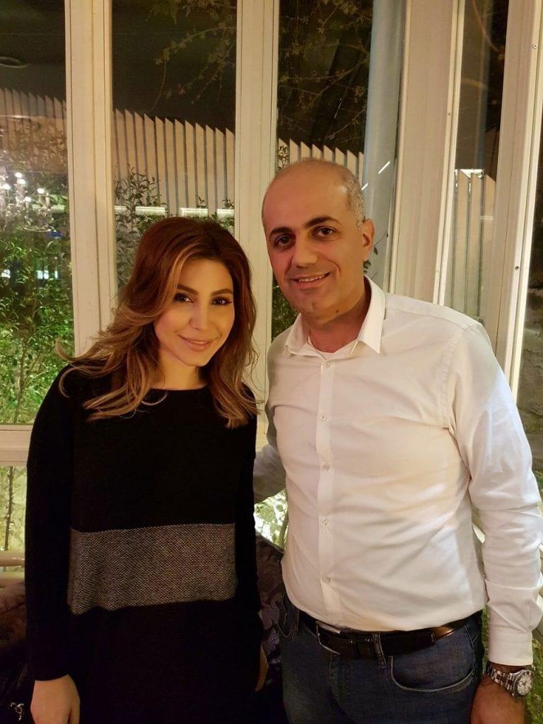 فيليب رياشي مع الفنانة يارا