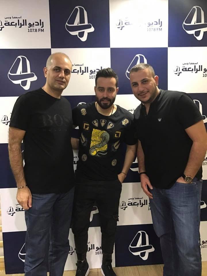 فيليب رياشي مع الفنان سعد رمضان