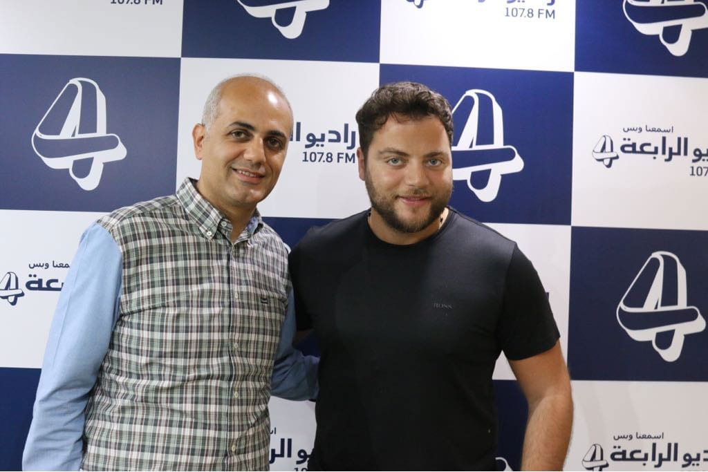 فيليب رياشي مع الفنان عامر زيان