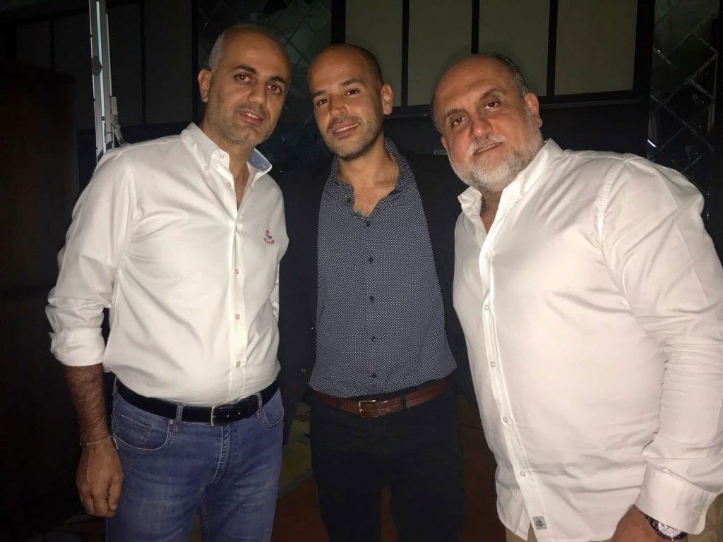 فيليب رياشي مع الفنان أبو وماهر خوخجي