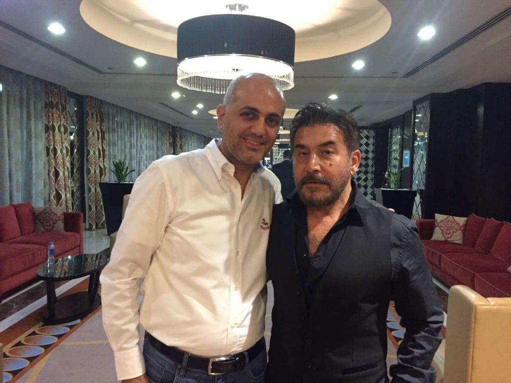 فيليب رياشي مع الفنان عابد فهد