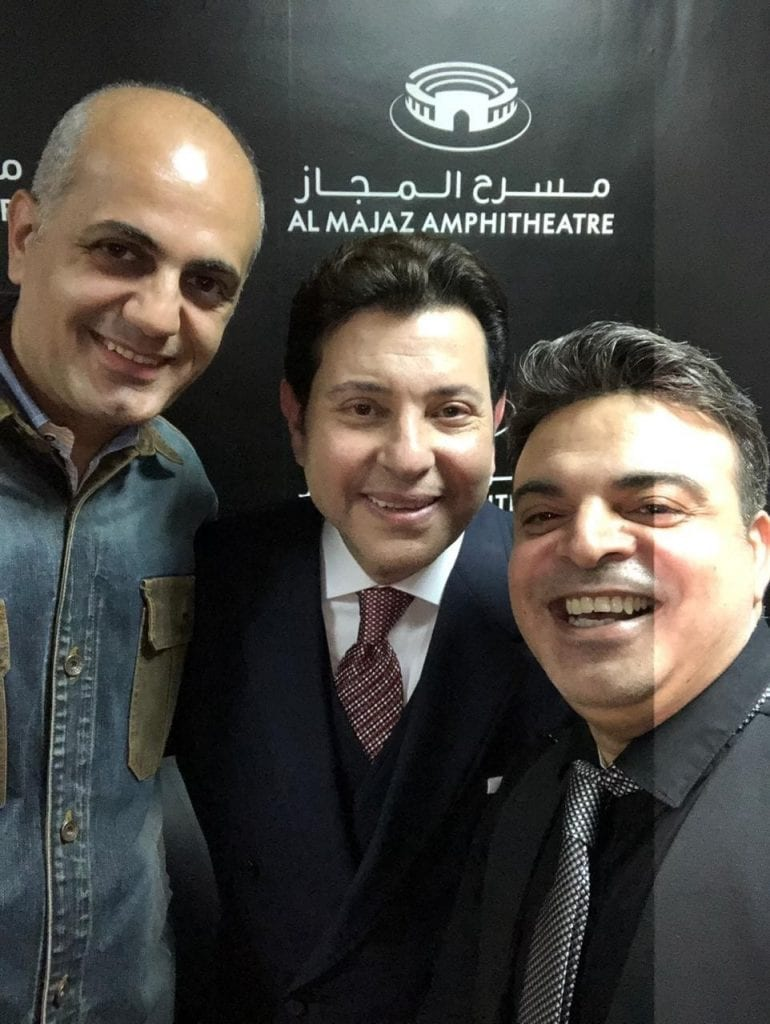 عمر الحلبي وفيليب رياشي مع الفنان هاني شاكر