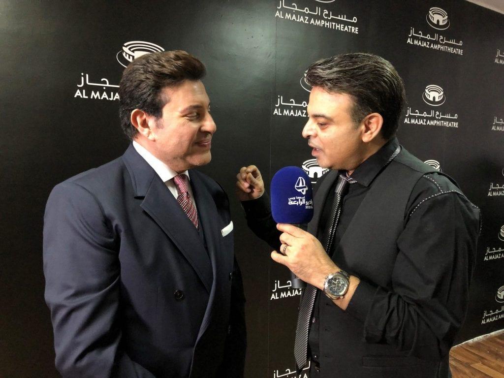 عمر الحلبي مع الفنان هاني شاكر