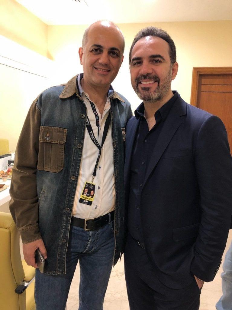 فيليب رياشي مع الفنان وائل جسار