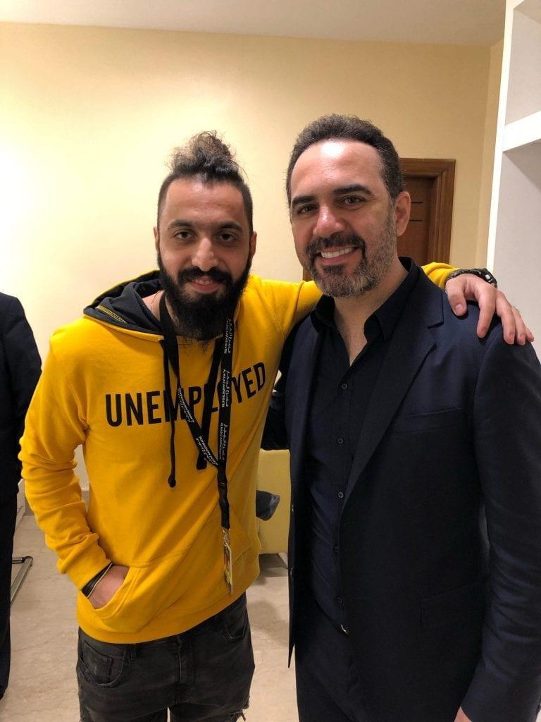 صالح لبابيدي مع الفنان وائل جسار