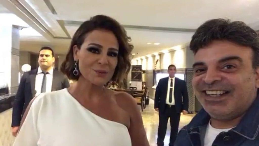 مع النجمة كارول سماحة في مهرحان موازيين في المغرب