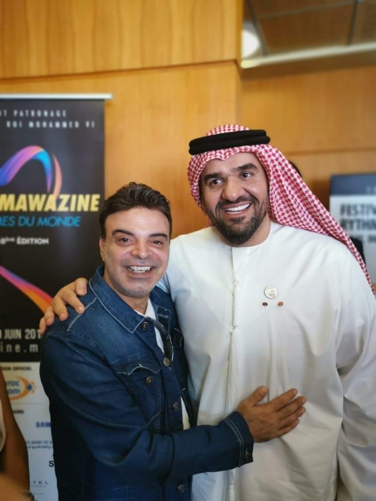 مع النجم حسين الجسمي في مهرجان موازيين في المغرب
