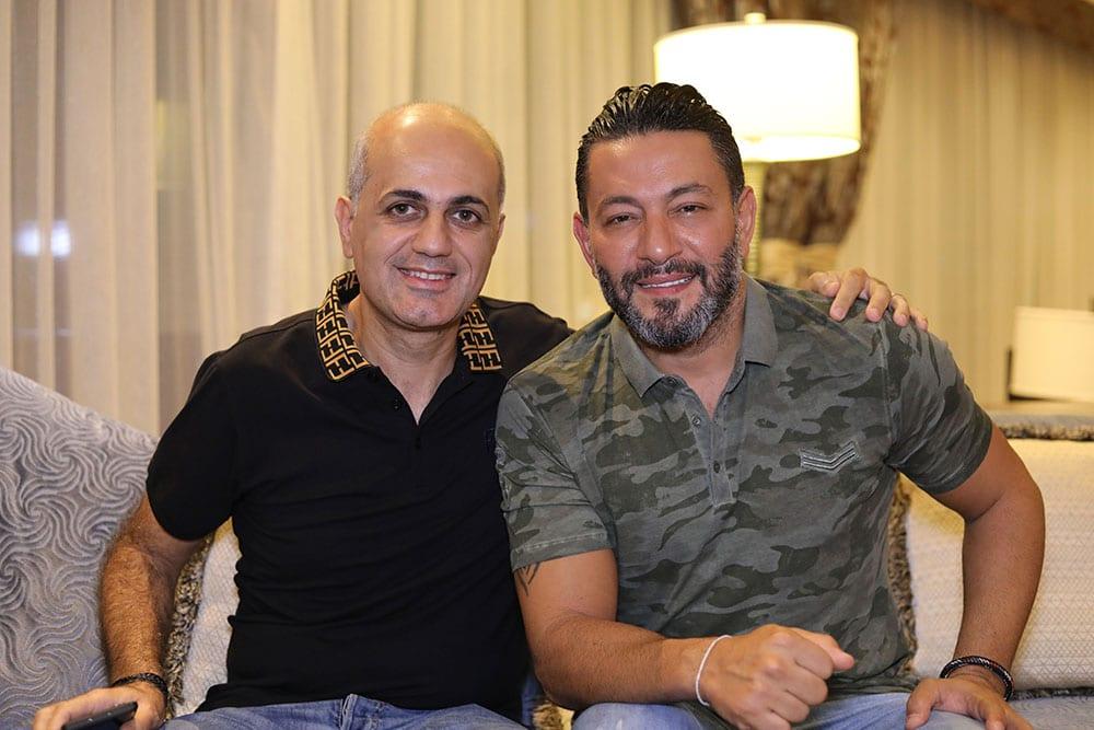 الأستاذ فيليب رياشي مع النجم زياد برجي