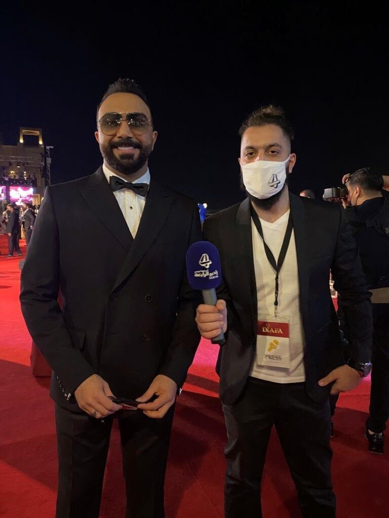 صالح مع الفنان العراقي مصطفى العبدالله