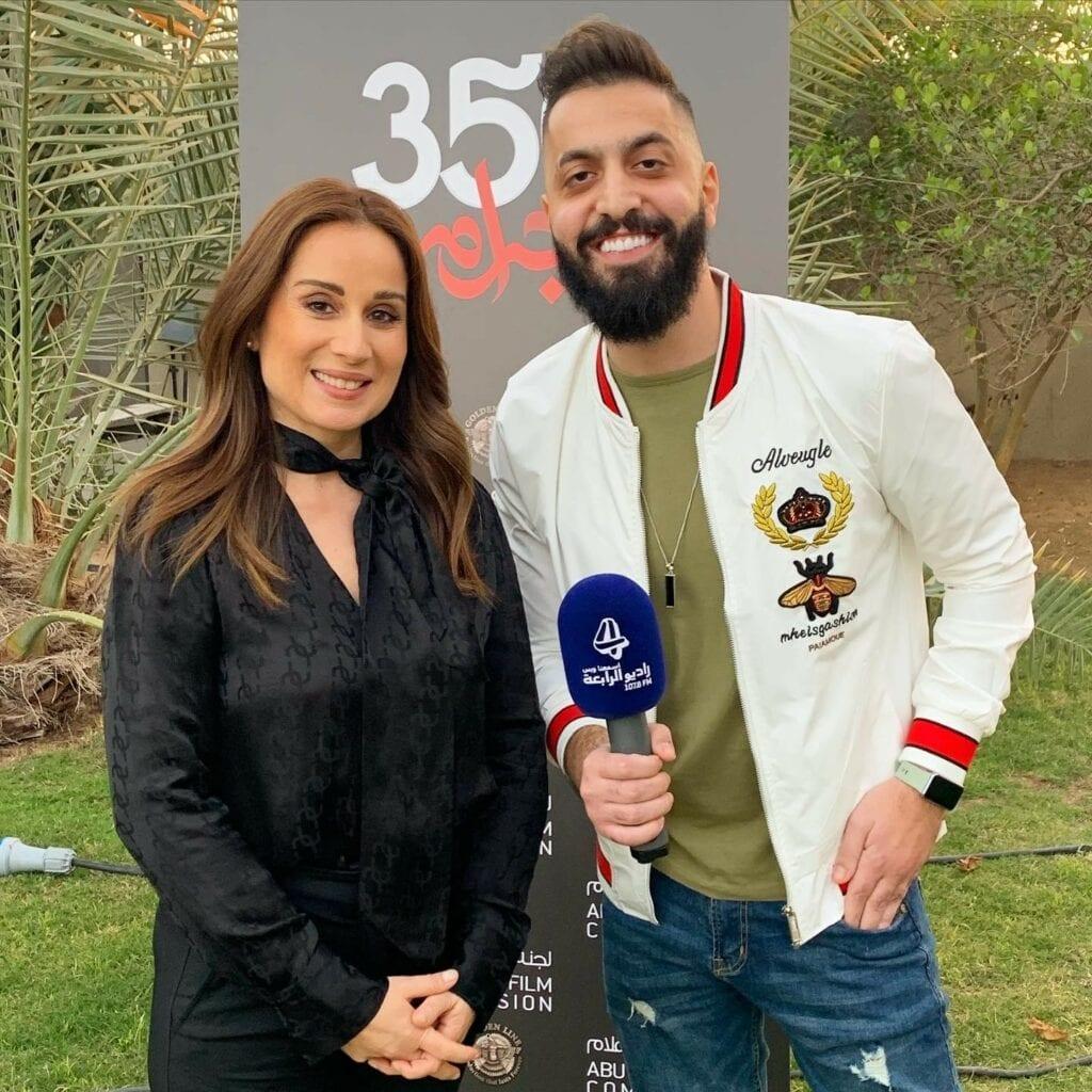 صالح مع النجمة اللبنانية كارين رزق الله