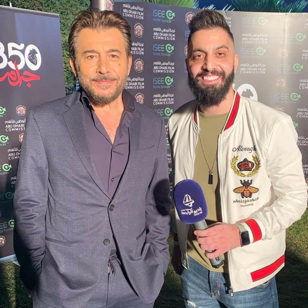 صالح مع النجم عابد فهد