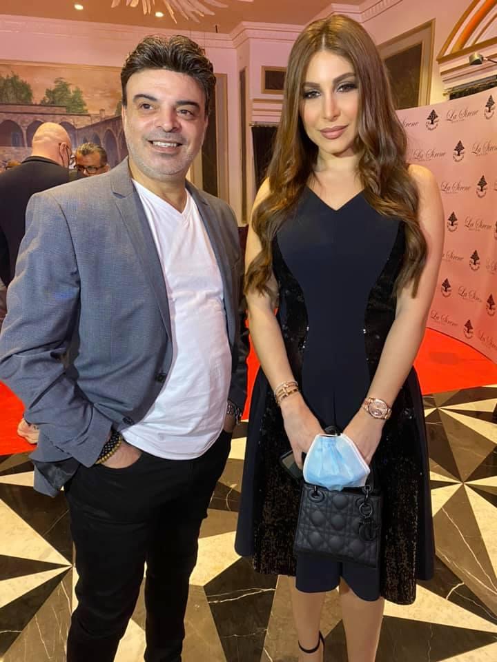 عمر مع النجمة يارا في دبي