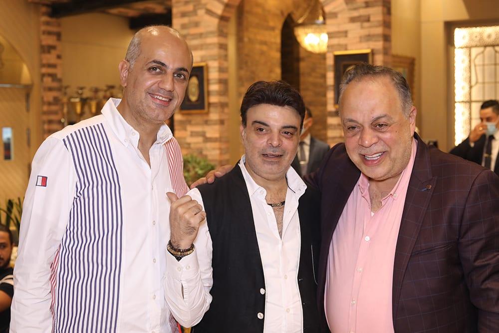 الأستاذ فيليب وعمر برفقة الفنان أشرف زكي