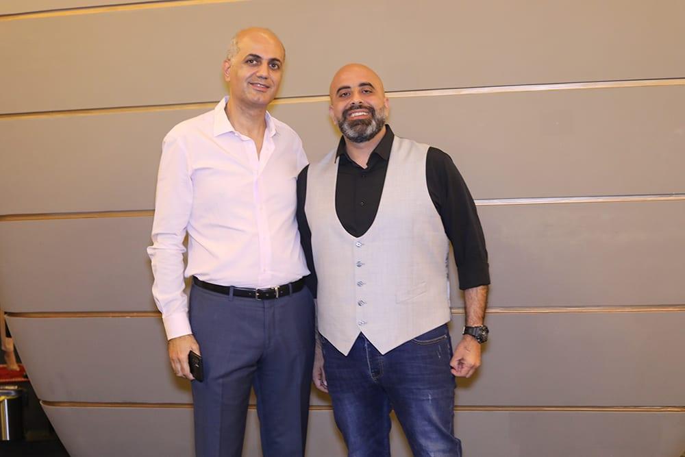 استاذ فيليب مع الإعلامي هشام عباس