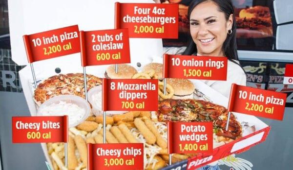 سبعة كلغ و12 ألف سعرة حرارية.. وجبة مجانية لمن يستطيع التهامها في 40 دقيقة
