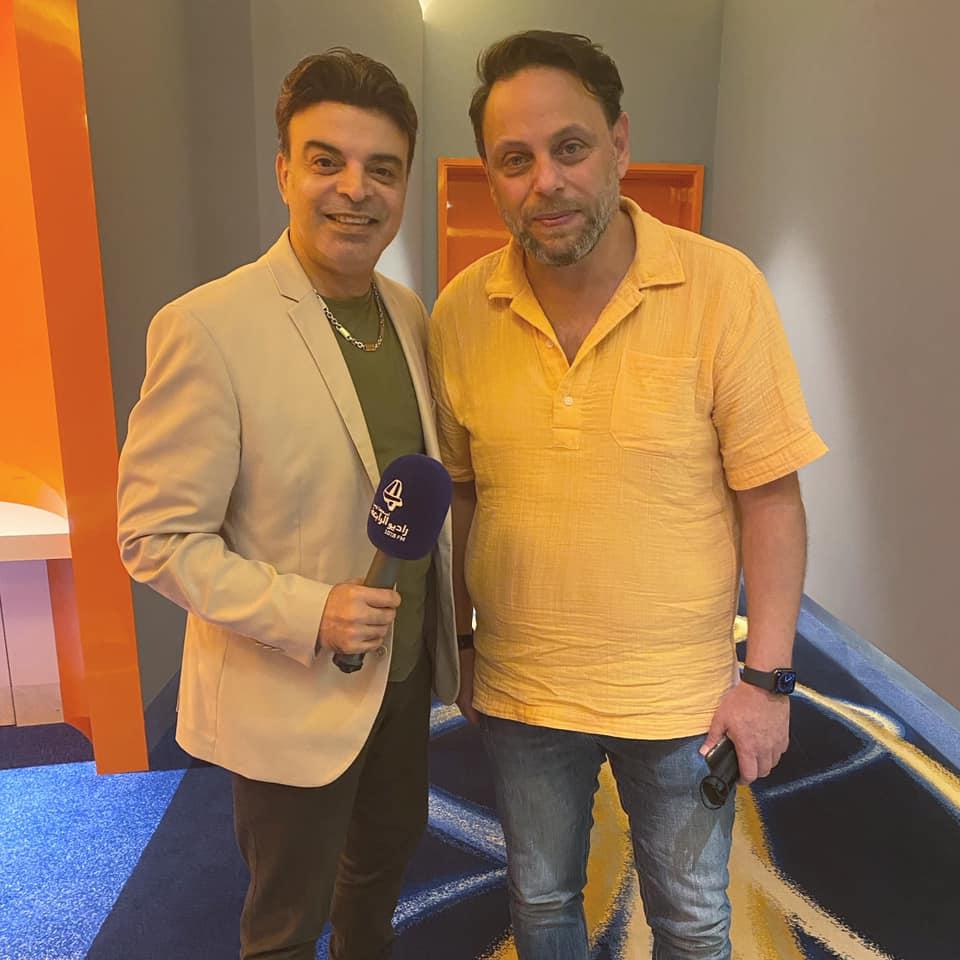 عمر مع المخرج سيف الدين سبيعي