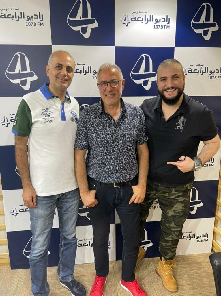 جاد والاستاذ فيليب مع النجم ميشال ابو سلمان