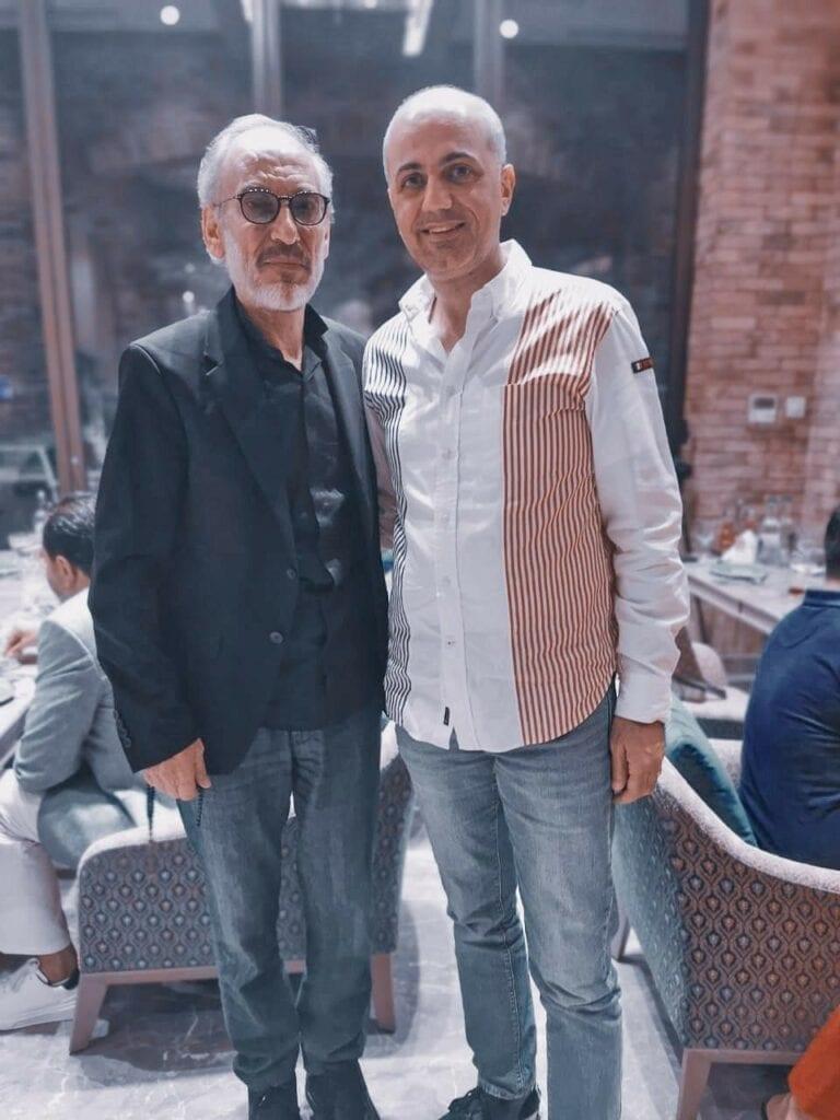 الأستاذ فيليب مع النجم العالمي غسان مسعود