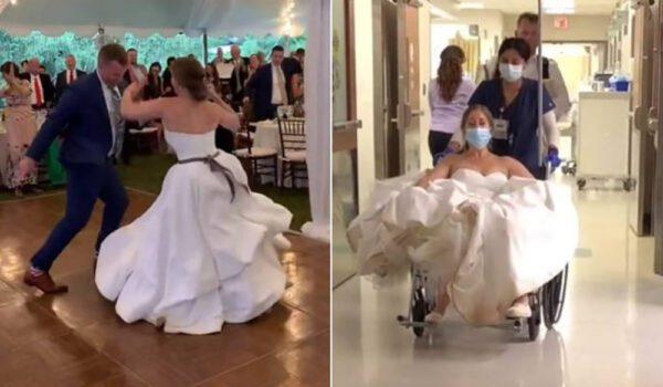 رقصة الزفاف تقود عروساً إلى المستشفى
