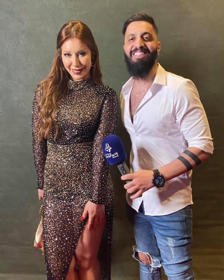 صالح مع الممثلة ديما الحايك