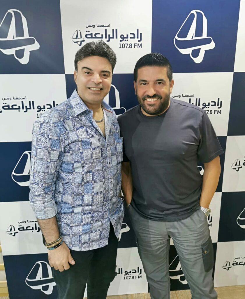 النجم رضا مع عمر باستديوهات راديو الرابعة