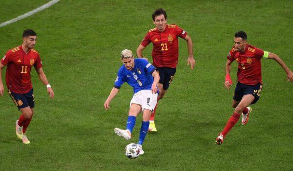 إسبانيا تنتصر على إيطاليا وتعبر إلى المباراة النهائية من دوري أمم أوروبا