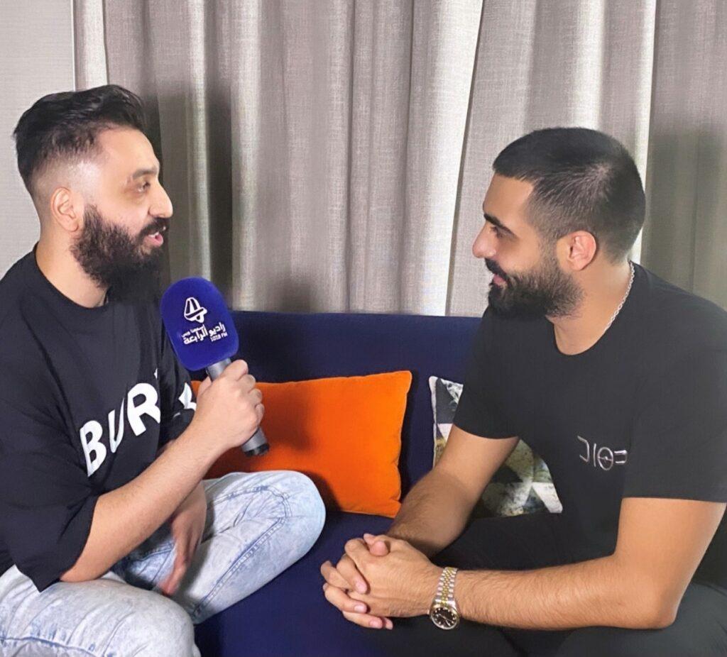 صالح مع الفنان اياد في دبي