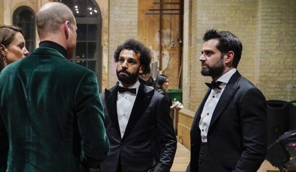 محمد صلاح يقابل الأمير ويليام